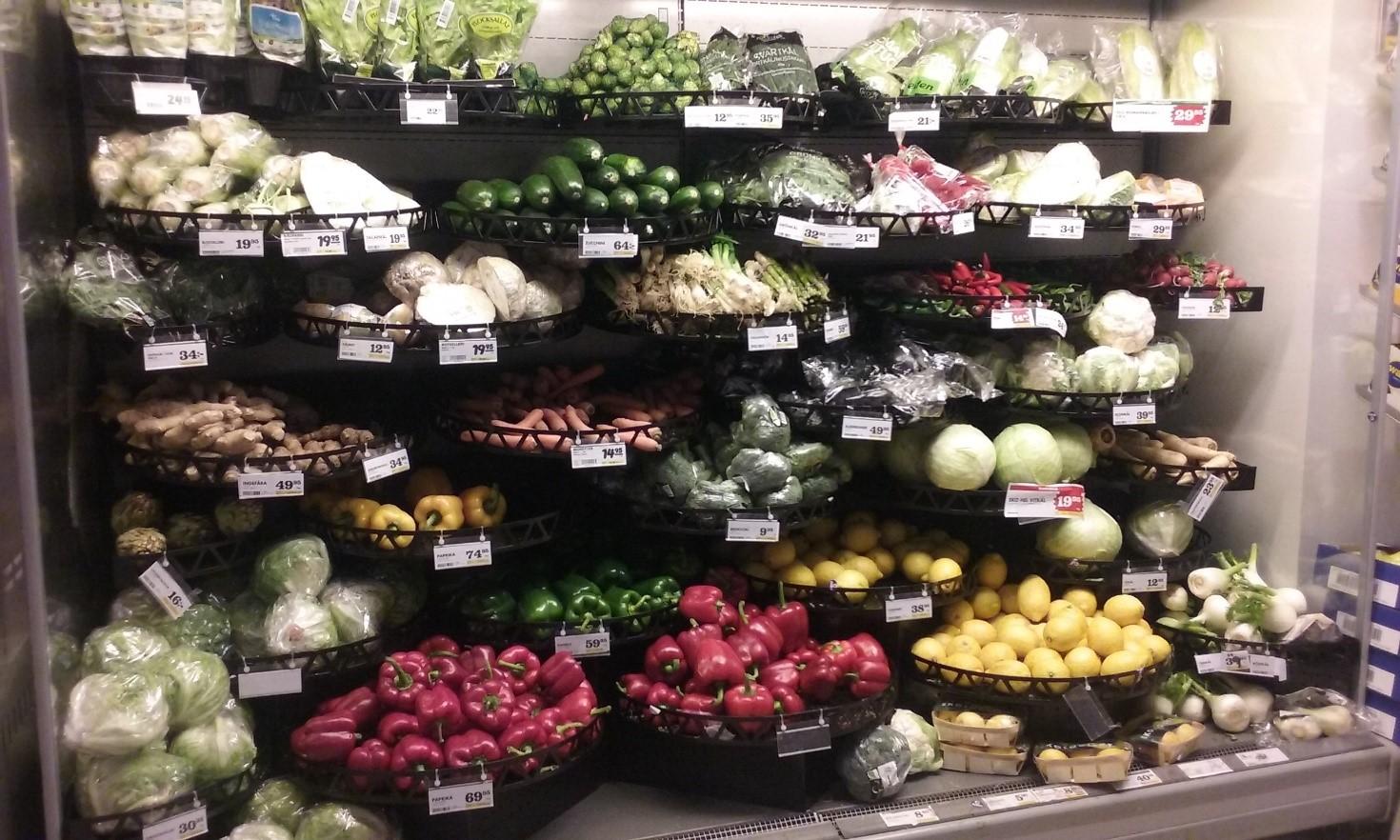 Ruokakaupan kasvisosasto